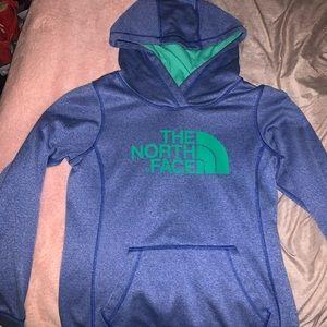 Blue & Green Northface Hoodie